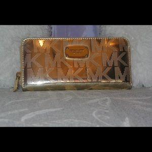 Michael Kors metallic gold wallet